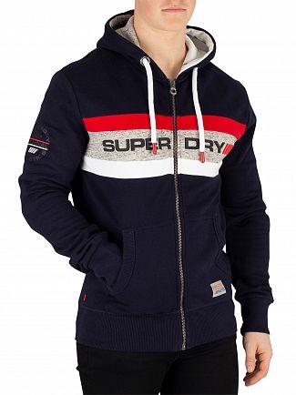 Superdry Navy Trophy Zip Hoodie