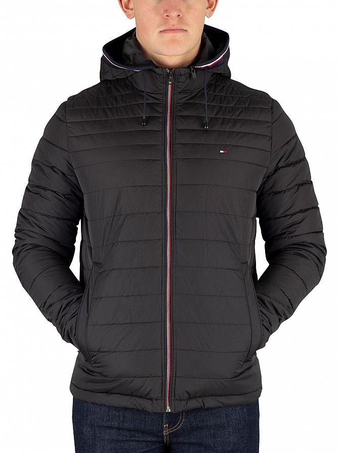 Tommy Hilfiger Jet Black Lathan Detachable Hoodie Jacket