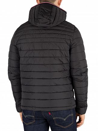 Tommy Hilfiger Jet Black Lathan Detachable Hoodie Jacket