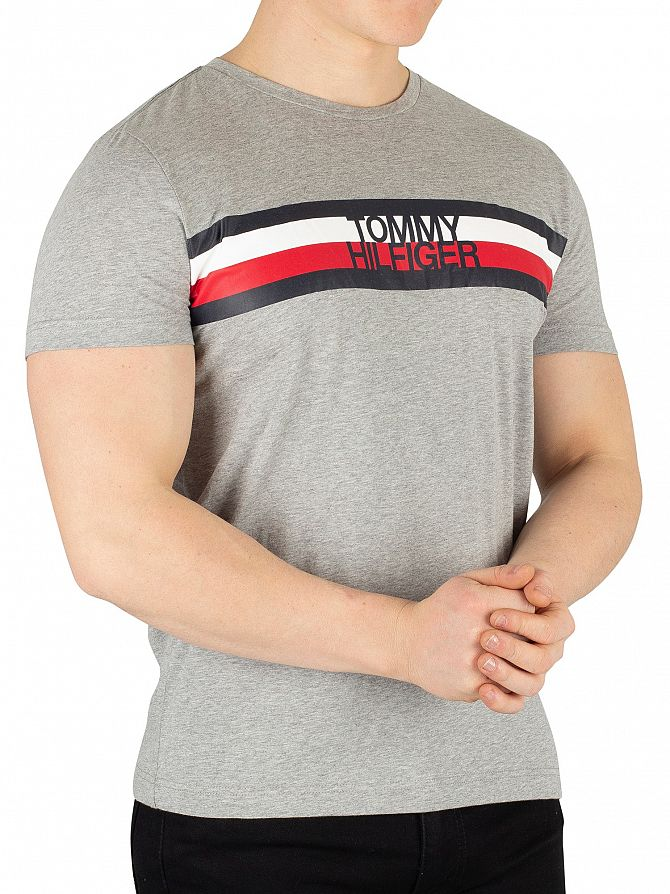 Tommy Hilfiger Cloud Heather Logo T-Shirt