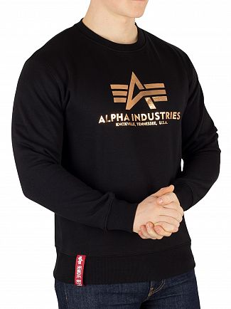 Alpha Industries Black/Gold Basic Sweatshirt