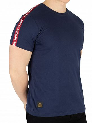 Alpha Industries New Navy Remove Before Flight Tape T-Shirt