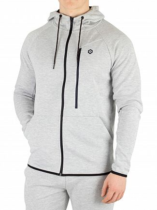 Jack & Jones Light Grey Melange Jans Zip Hoodie