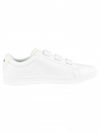 Lacoste White/Off White Carnaby Evo Strap 119 3 SMA Leather Trainers