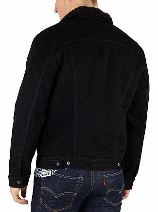 Levi's Black Type 3 Sherpa Trucker Jacket