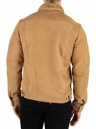 Scotch & Soda Brown Suede Trucker Jacket