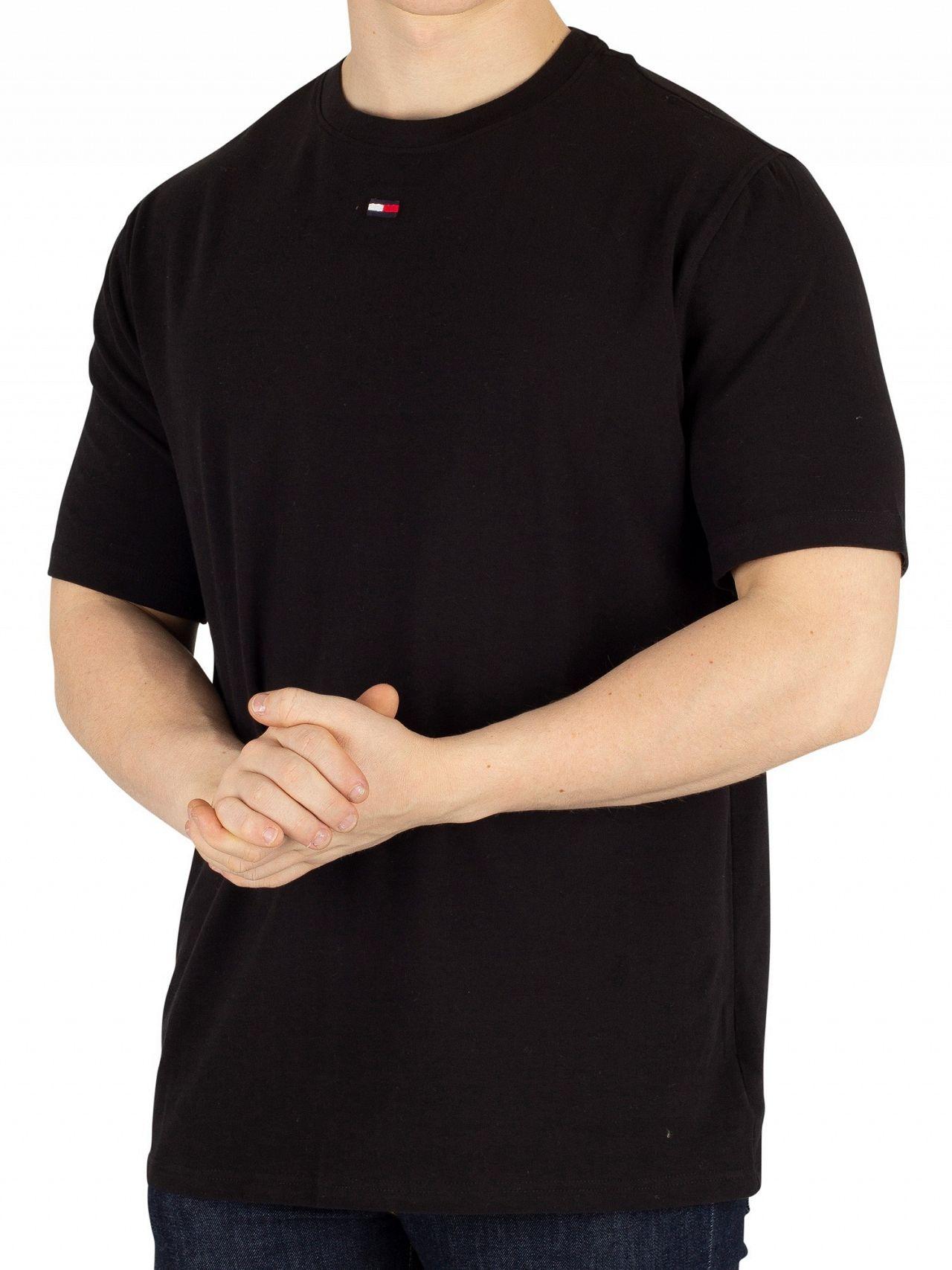 d46ce720 Tommy Hilfiger Black Middle Logo T-Shirt | Standout
