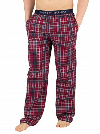 Tommy Hilfiger Deep Claret Woven Check Pyjama Bottoms