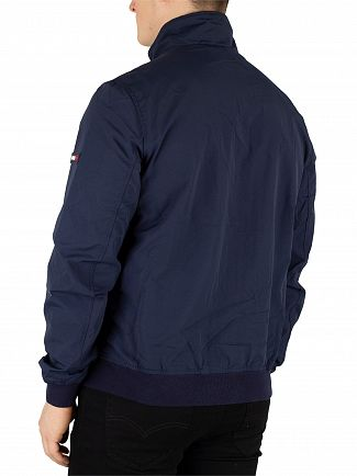 Tommy Jeans Black Iris Navy Essential Casual Bomber Jacket