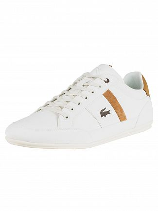 Lacoste Off White / Light Brown Chaymon 119 5 CMA Trainers