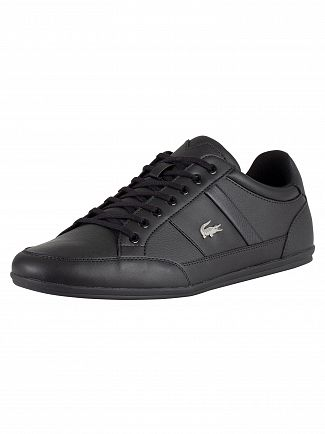 Lacoste Black/Black Chaymon BL 1 CMA Leather Trainers