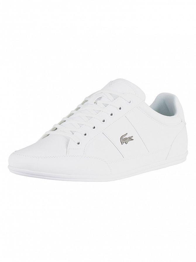 Lacoste White/White Chaymon BL 1 CMA Leather Trainers