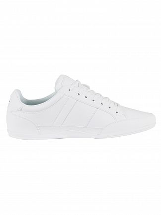 Lacoste White/White Chaymon BL 1 CMA Leather Trainers