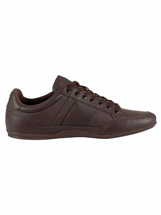 Lacoste Dark Brown Chaymon BL 1 CMA Leather Trainers