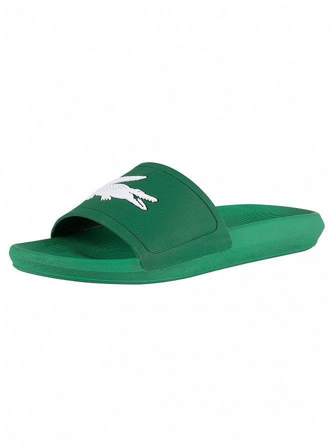 Lacoste Green/White Croco 119 1 CMA Sliders
