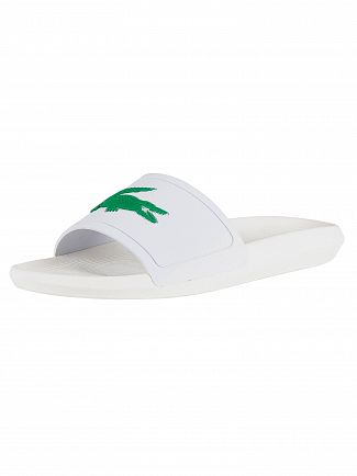 Lacoste White/Green Croco 119 1 CMA Sliders