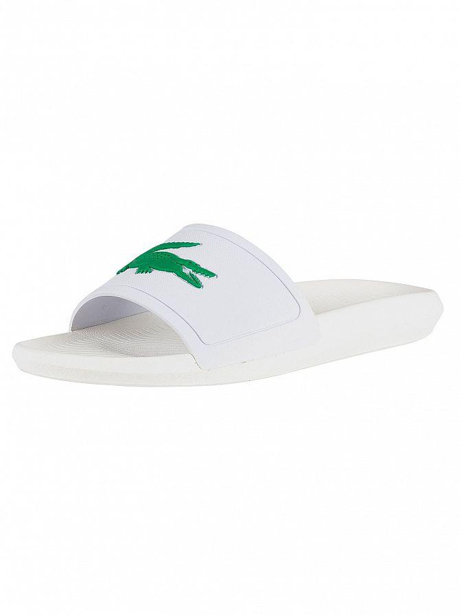 Lacoste White/Green Croco 119 1 CMA Sliders