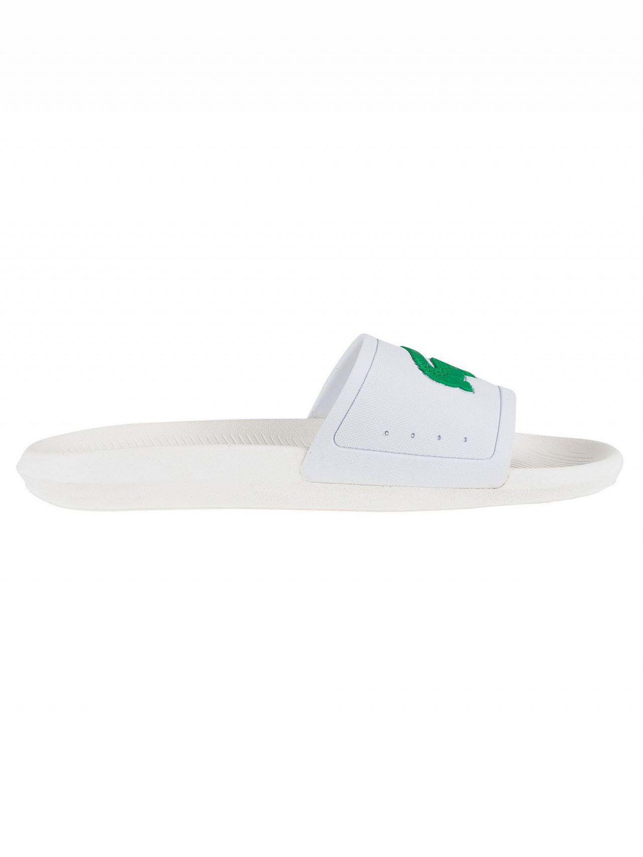 4ff516225d46 Lacoste White Green Croco 119 1 CMA Sliders