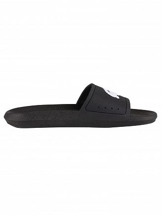 Lacoste Black/White Croco 119 1 CMA Sliders