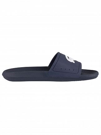 Lacoste Navy/White Croco 119 1 CMA Sliders