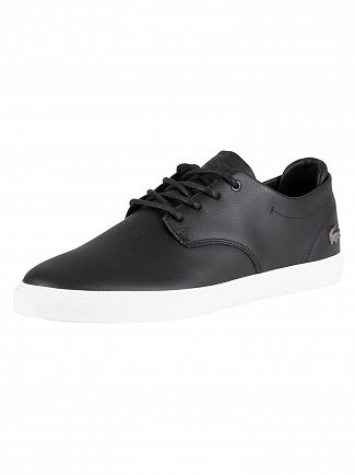 Lacoste Black/White Esparre BL 1 CMA Leather Trainers