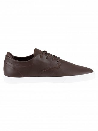 Lacoste Brown/White Esparre BL 1 CMA Leather Trainers