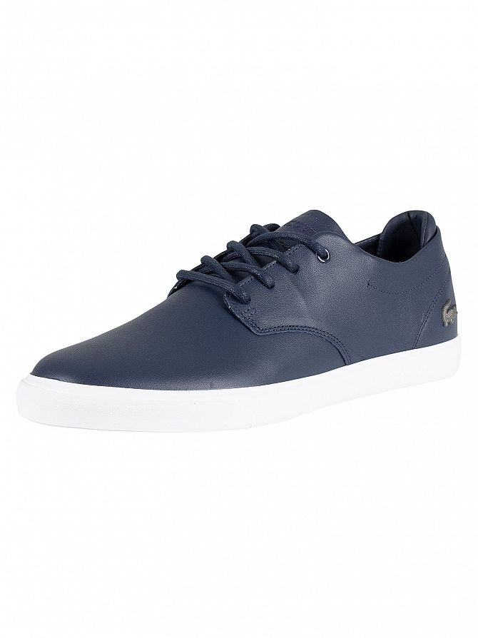 Lacoste Navy/White Esparre BL 1 CMA Leather Trainers