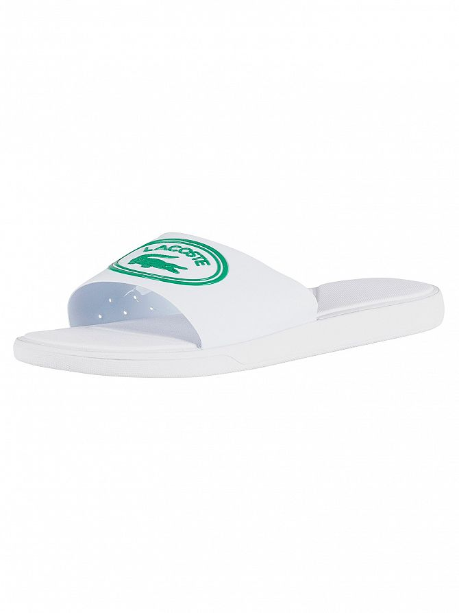 Lacoste White/Green L.30 119 3 CMA Sliders