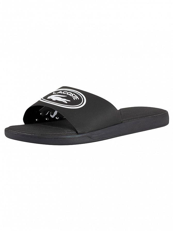 Lacoste Black/White L.30 119 3 CMA Sliders
