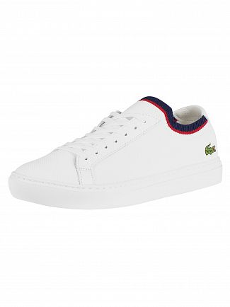 Lacoste White/Navy/Red LA Piquee 119 1 CMA Trainers