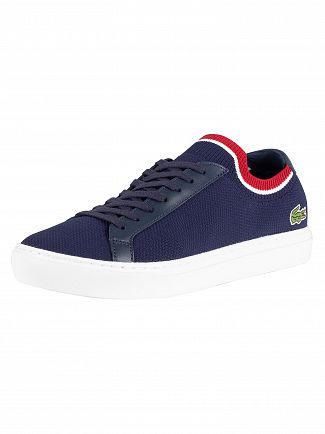 Lacoste Navy/White/Red LA Piquee 119 1 CMA Trainers