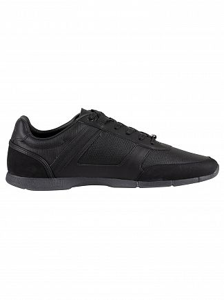 Lacoste Black/Black Menerva 119 2 CMA Leather Trainers