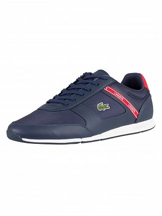 Lacoste Navy/Red Menerva Sport 119 2 CMA Trainers