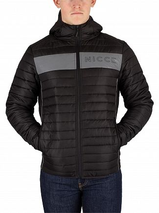 Nicce London Black Reflective Jackson Jacket