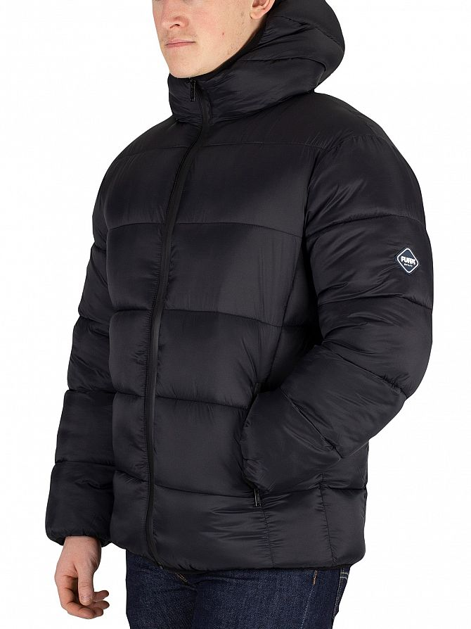 Puffa  Stretch Limo Black Hooded Jacket