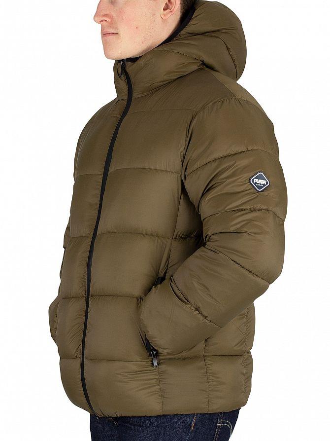 Puffa  Dark Olive Hooded Jacket