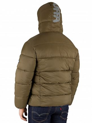 Puffa  Dark Olive Hooded Jacket