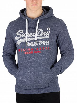 Superdry Pacific Blue Heather Premium Goods Pullover Hoodie