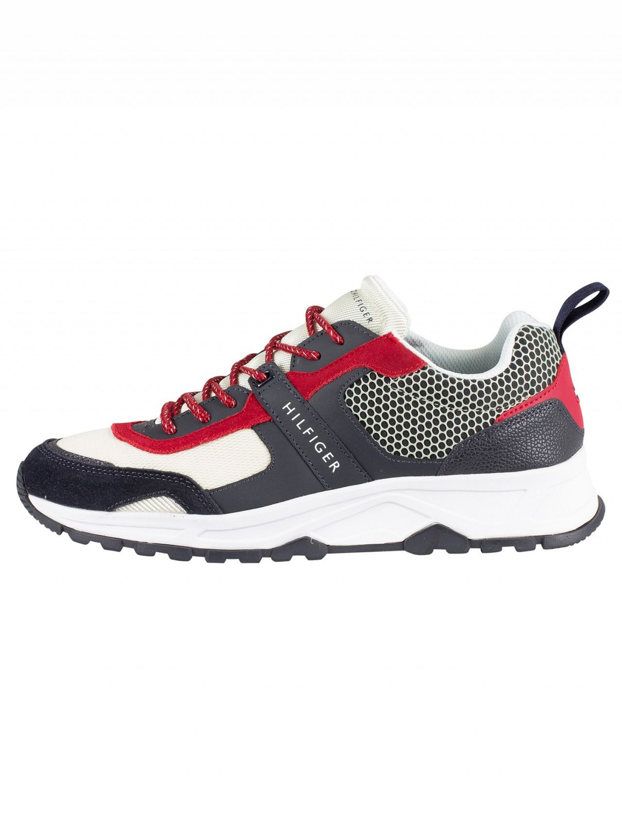 252f6aff Tommy Hilfiger Black/Beige Material Mix Lightweight Trainers | Standout