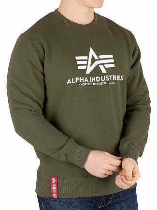 Alpha Industries Dark Green Basic Sweatshirt