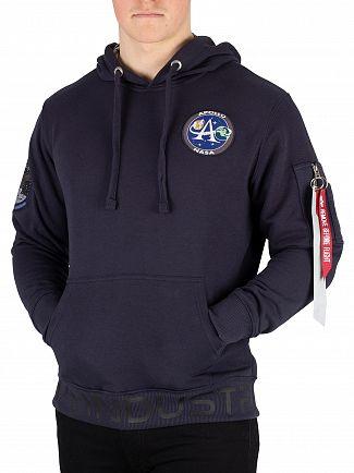 Alpha Industries Rep Blue Moon Landing Pullover Hoodie