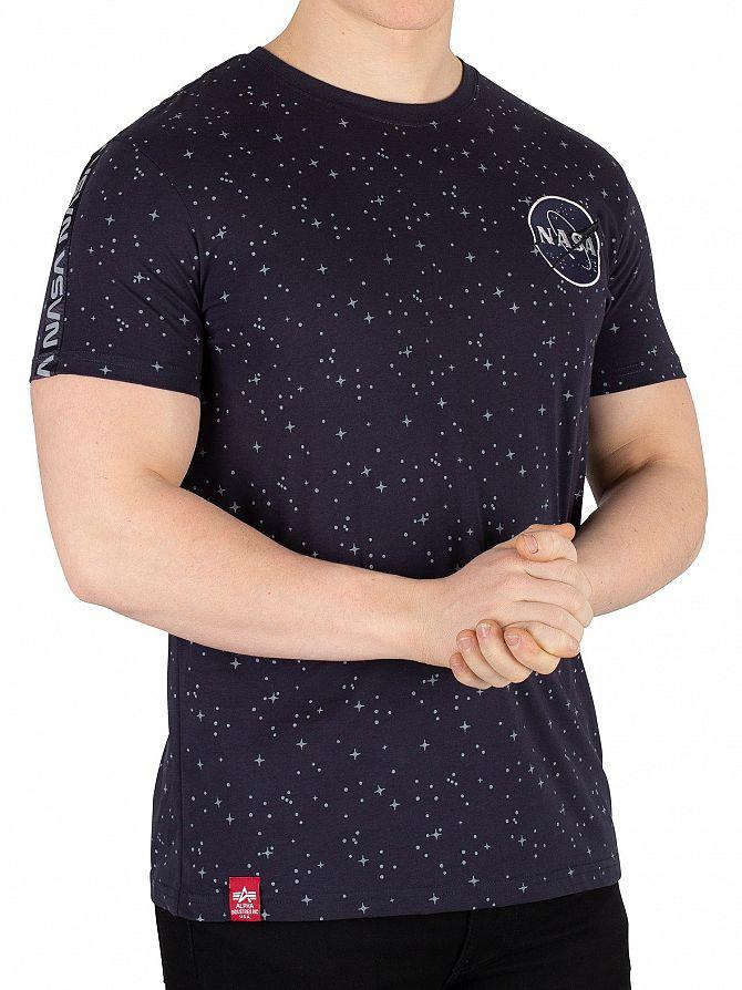 Alpha Industries Rep Blue NASA Tape T-Shirt
