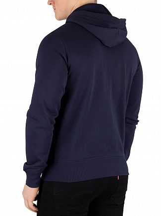 Gant Evening Blue Original Full Zip Hoodie