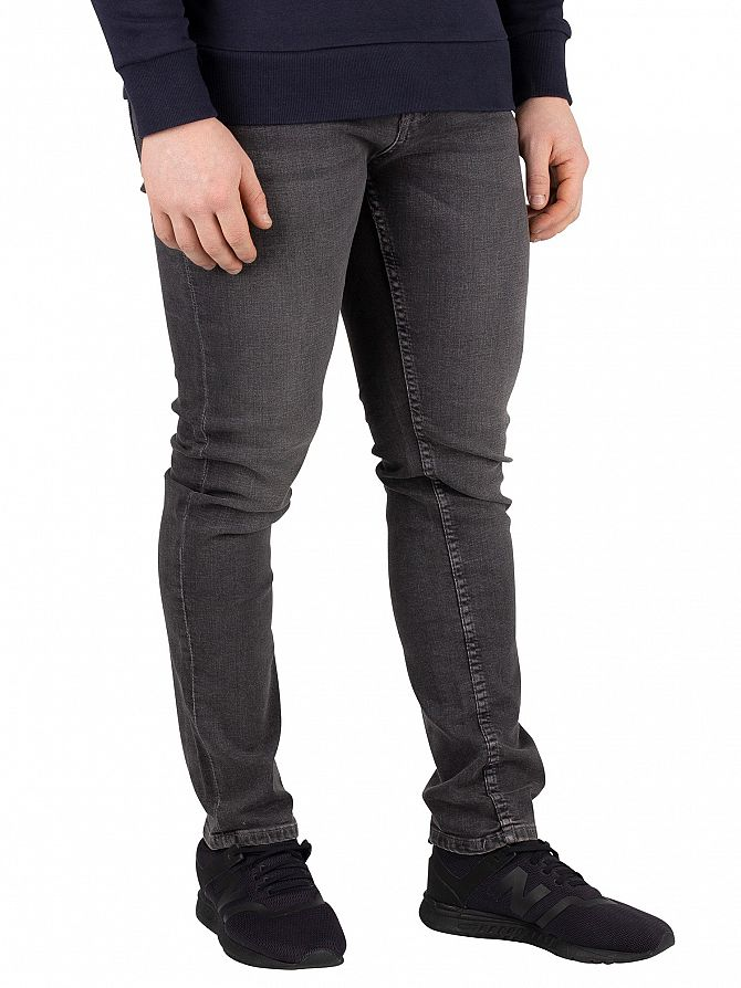 Jack & Jones Grey Denim Glenn Original 007 Slim Fit Jeans