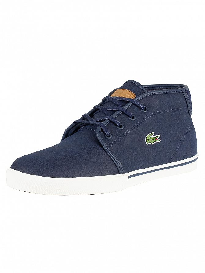 Lacoste Navy/Light Brown Ampthill 119 1 Leather Trainers
