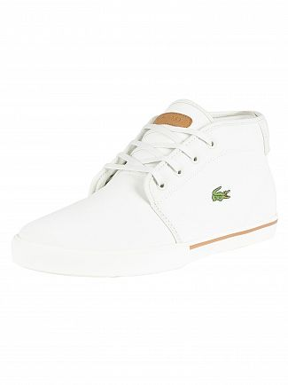 Lacoste Off White/Light Brown Ampthill 119 1 Leather Trainers