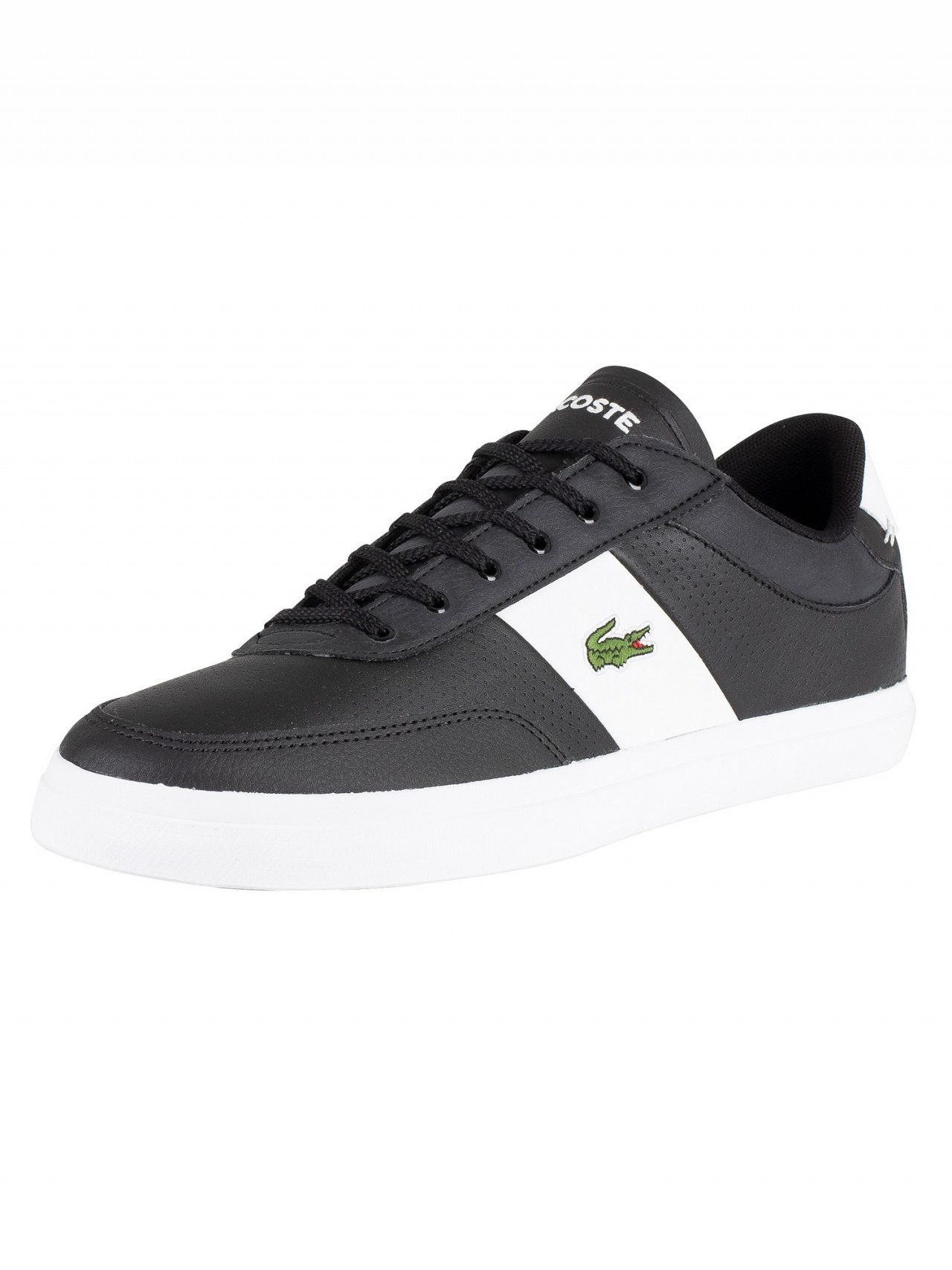 b6e900bb8 Lacoste Black/White Court-Master 119 2 Leather Trainers | Standout