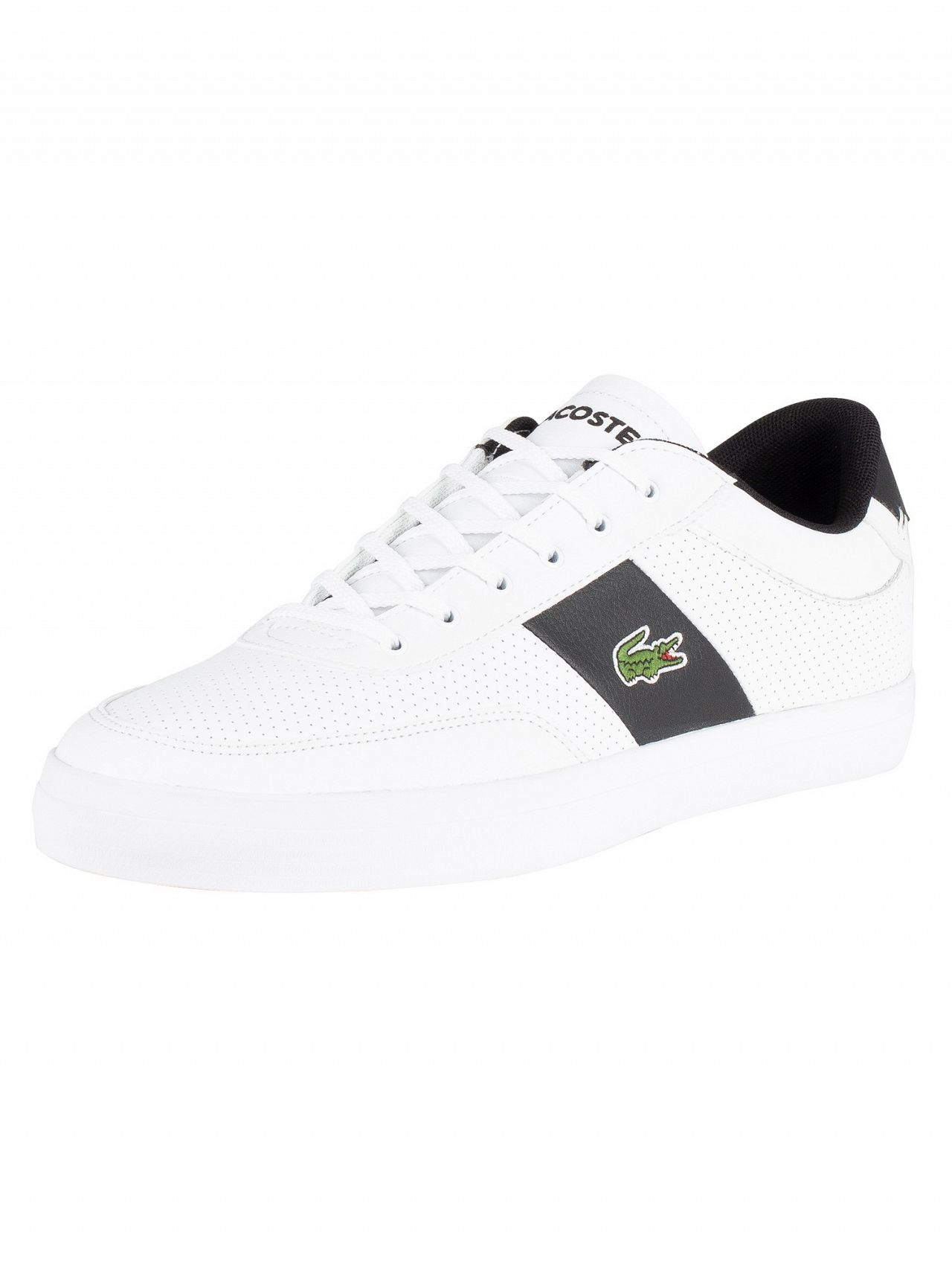 0a10a7f69 Lacoste White Black Court-Master 119 2 Leather Trainers