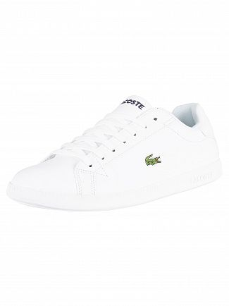 Lacoste White/White Graduate BL 1 Leather Trainers