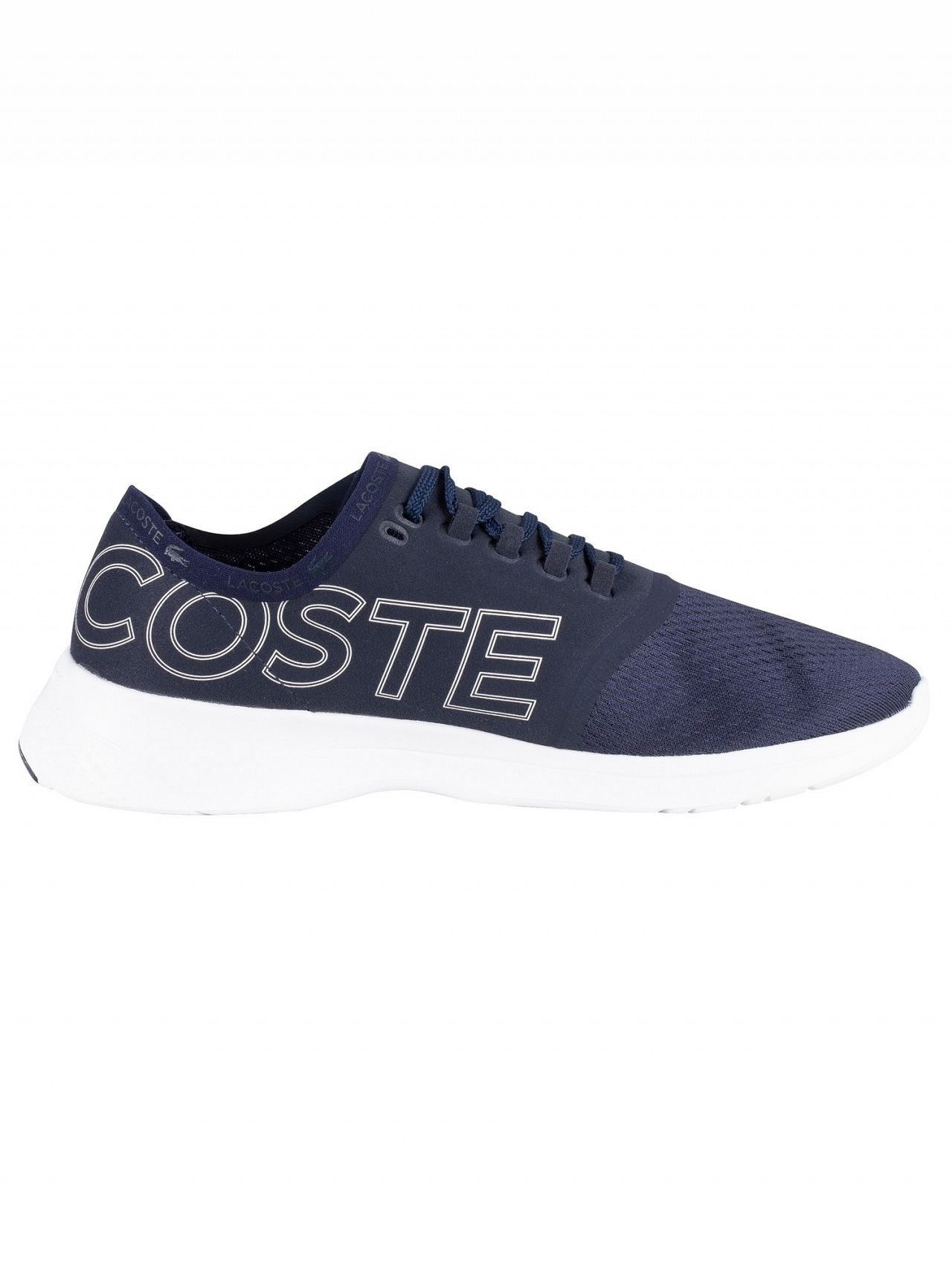 74664affa2bdd Lacoste Navy/White LT Fit 119 1 Textile Trainers